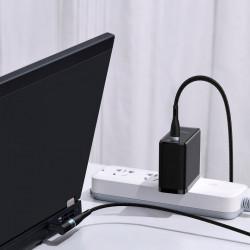 Cablu incarcare, magnetic Baseus Zinc pentru laptop Lenovo USB de tip C la port rotund DC (5,5 x 2,5mm) 100W 2m negru (CATXC-X01)