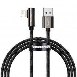 Cablu USB la Lightning Baseus Legend Series, 2.4A, 2m (black)