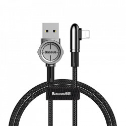Cablu USB-Lightning, Baseus Exciting Mobile Game with Nylon Braid 2.4A 1m Black (CALCJ-A01)