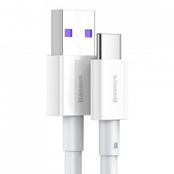 Cablu USB-USB Type C incarcare rapida 66 W 6A 1 m White (CATYS-02)