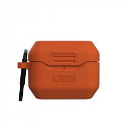 Carcasa antimicrobiana UAG Standard Issue Silicone Apple AirPods Pro Orange