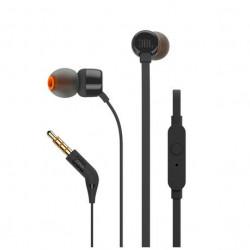 Casti audio in-ear cu microfon JBL T110, Black