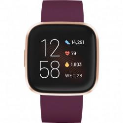 Ceas smartwatch Fitbit Versa 2, NFC, Bordeaux/ Copper Rose Aluminum