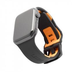 Curea silicon UAG Civilian Strap Apple Watch 42/44mm Black/Orange
