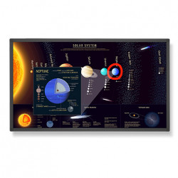 """Display Touch Nec E651-T, 65"""", 400 cd/m2"""