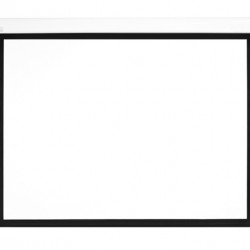 Ecran proiectie electric, perete/tavan, 300 x 168 cm, Multibrackets 0526, carcasa alba, cu bordura, Format 16:9