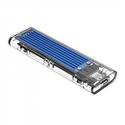 Enclosure SDD M.2 Orico, NVME, USB-C 3.1 Gen.2, 10Gbps (blue)