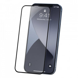 Folie de protectie Baseus 2x Sticla securizata 0,23 mm cu cadru pentru intregul ecran iPhone 12 mini Negru (SGAPIPH54N-PE01)