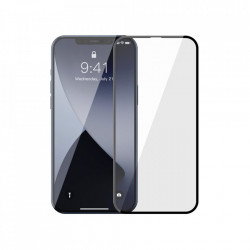 Folie de protectie Baseus 2x Sticla securizata 0,3 mm cu cadru pentru intregul ecran iPhone 12 mini Negru (SGAPIPH54N-KA01)