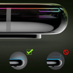 Folie protectie din sticla securizata privacy, Baseus Full Coverage 3D, pentru Apple iPhone XS / X, negru