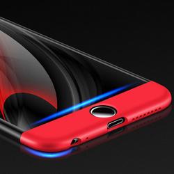 Husa 360° Matte Full Protection Gema Mixt pentru Apple iPhone 6/6S (fata + spate )