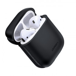 Husa protectoare din silicon pentru Apple Airpods, UGREEN , negru