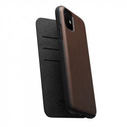 Husa telefon din piele naturala Nomad Folio, brown - iPhone 11
