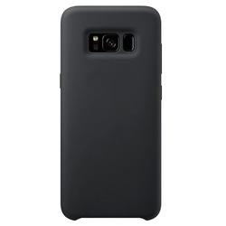 Husa telefon din silicon flexibil cu interior din material impotriva zgarieturilor , Gema Mixt pentru Samsung galaxy S8 Plus G955 , negru