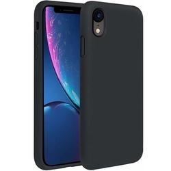 Husa telefon din silicon flexibil cu interior din material impotriva zgarieturilor , Gema Mixt pentru Apple iPhone XR , negru