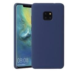 Husa telefon din silicon flexibil cu interior din material microfibra impotriva zgarieturilor , Gema Mixt pentru Huawei Mate 20 Pro , albastru inchis