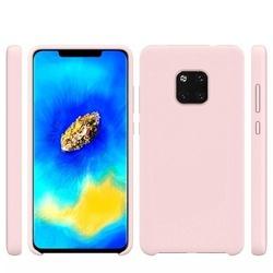 Husa telefon din silicon flexibil cu interior din material microfibra impotriva zgarieturilor , Gema Mixt pentru Huawei Mate 20 Pro , roz