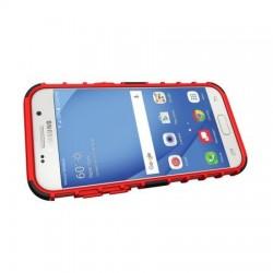 Husa telefon Puky Armor cu stand pentru Samsung Galaxy A3 2017 , negru + rosu