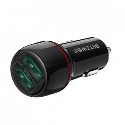Incarcator auto Blitzwolf BW-SD5 Dual USB Charger 25W QC3.0 - negru