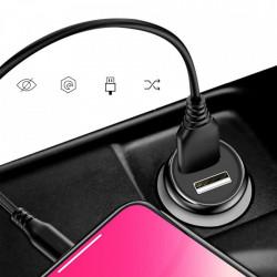 Incarcator auto DUDAO 2x USB 3.4A - gri
