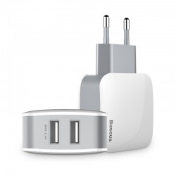 Incarcator Baseus Letour Travel,2 x USB + cablu 3 in 1 (micro USB / Lightning / USB-C) 1,2 m