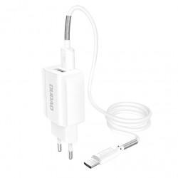 Incarcator DUDAO 2x USB 5V/2.4A + cablu micro-USB