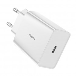 Incarcator priza Baseus fast charge USB Type C 18 W 3 A Power Delivery Quick Charge 3.0 alb (CCFS-X02)