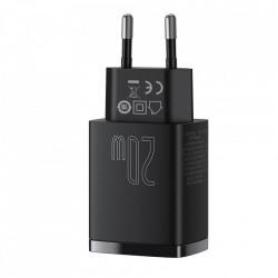 Incarcator priza Baseus USB 18W + Type-C 20W, negru, CCXJ-B01