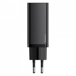 Incarcator priza, rapid Baseus GaN2 Lite 65W USB / USB Typ C Quick Charge 3.0 Power Delivery (gallium nitride) black (CCGAN2L-B01)