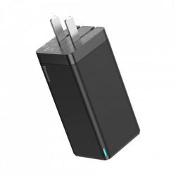 Incarcator priza US Plug + adaptor,Baseus GaN PPS 65W USB / 2x USB tip C încărcare rapidă 3.0 Livrare de putere SCP FCP AFC (azot de galiu) negru (CCGAN-B01)