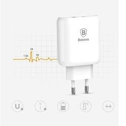 Incarcator Retea Baseus Bojure Series 23W , Quick Charge 3.0, 3 Amperi, Alb