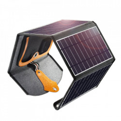 Incarcator solar pliabil Choetech 22W cu panou solar 2x USB 5V / 2.4A / 2.1A solar panel (82 x 24 cm) black (SC005), 22, 1 pc.
