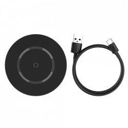 Incarcator wireless magnetic Baseus 15 W (compatibil MagSafe iPhone) black (WXJK-E01)