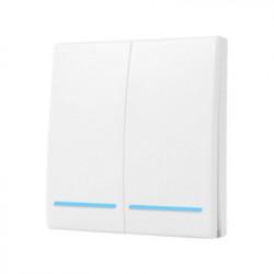 Intrerupator de perete RF fara fir cu 2 benzi SmartWise RF2