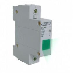 Lampa de semnalizare cu montare pe sina DIN, led rosu - MF0005-00525