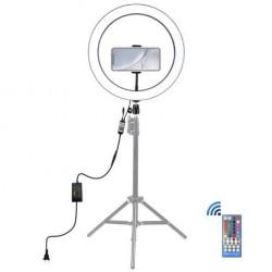 Lampa Vlog RGB LED PULUZ cu suport pentru smartphone