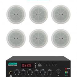 Pachet Sonorizare 60W cu amplificator 60W DSPPA MP60UB si boxe 6x DSPPA DSP802, USB, Radio FM, Bluetooth