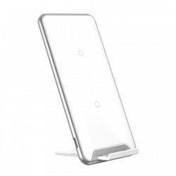 Pad incarcare telefon wireless cu bobina tripla , Baseus Three-Coil Qi , alb
