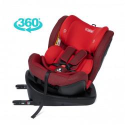 Scaun auto rotativ 360gr cu Isofix, Rosu