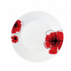 SET 12 FARF DESERT 19CM,RED FLOWER PETAL
