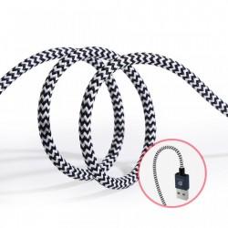 Set 2 cabluri de date si incarcare Dux Ducis K Two , 1 x Micro Usb 100 cm 5V 2A si 1 x Micro Usb 20 cm 5V 3A , silver