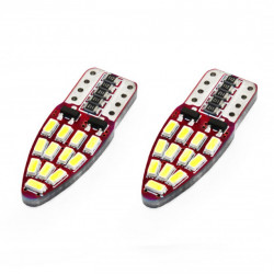 Set 2 x LED CANBUS 24SMD 3014 T10e (W5W) Alb 12V