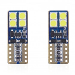 Set 2 x LED CANBUS 8SMD 2835 T10e (W5W) White 12V/24V