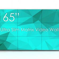 Solutie VideoWALL Vogel's 3x3 cu fixare pe perete si 9 Display-uri SWEDX UMX-55K8-01, bezel 3,5mm