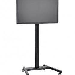 Stand TV podea mobil Vogels T1544 / T1844 / T2044 NEGRU, TV max 200cm diagonala si max 80 kg