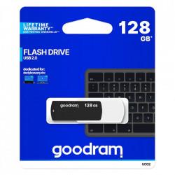 Stick USB Goodram pendrive 128 GB USB 2.0 20 MB/s (rd) - 5 MB/s (wr) flash drive black and white (UCO2-1280KWR11)