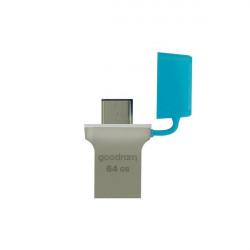 Stick USB Goodram pendrive 64 GB USB 3.2 Gen 1 60 MB/s (rd) - 20 MB/s (wr) blue (ODD3-0160B0R11)