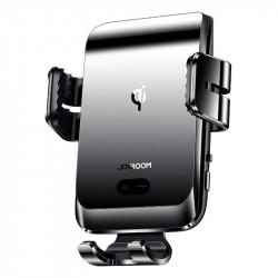 Suport auto cu incarcare wireless si inchidere automata, Joyroom Qi wireless 15 W gray (JR-ZS214)