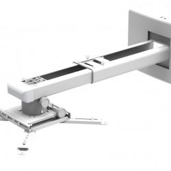 Suport videoproiector de perete Blackmount CT-PRB-11S, distanta perete-proiector 450-670mm, max.10kg, alb