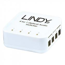 Switch TosLink Lindy audio digital optic cu 4 intrari si o iesire